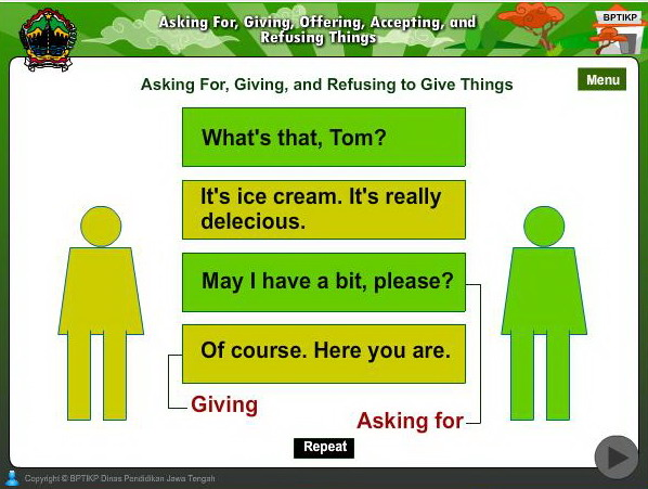 Asking For Giving Offering Accepting And Refusing Things